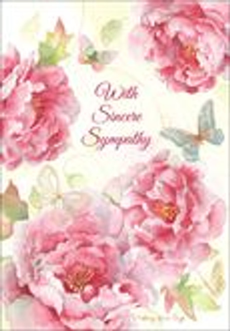 Sympathy Card - With Sincere Sympathy