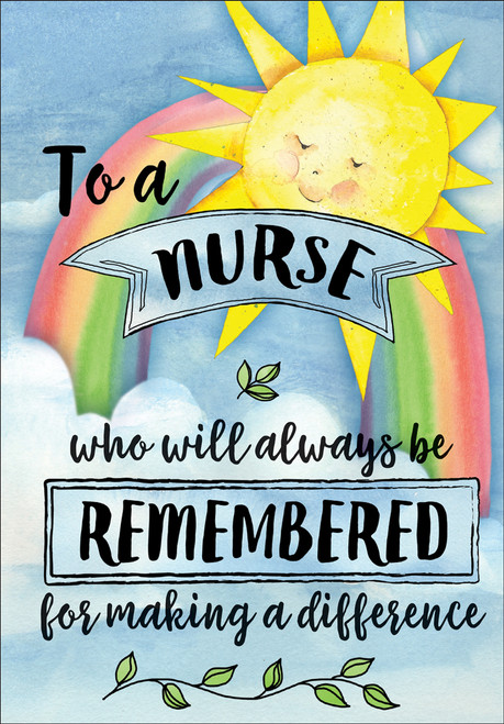 Thank You Card - To a Nurse