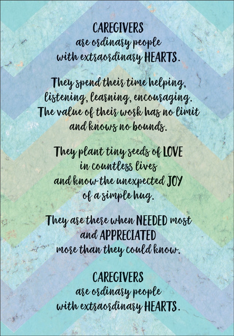 Thank You Card - Caregiver