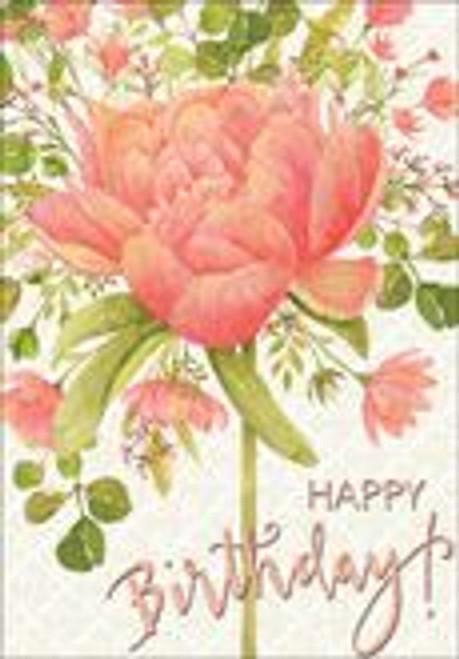 Birthday Card - Happy Birthday Geranium