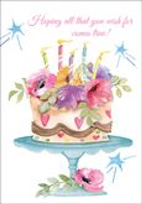 Birthday Card - Happy Birthday Cake