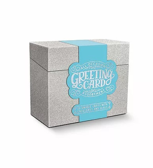 All Occasion Greeting Card Assortment - Silver Glitter