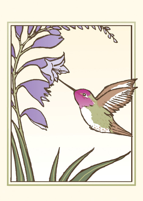 Anna's Hummingbird Card