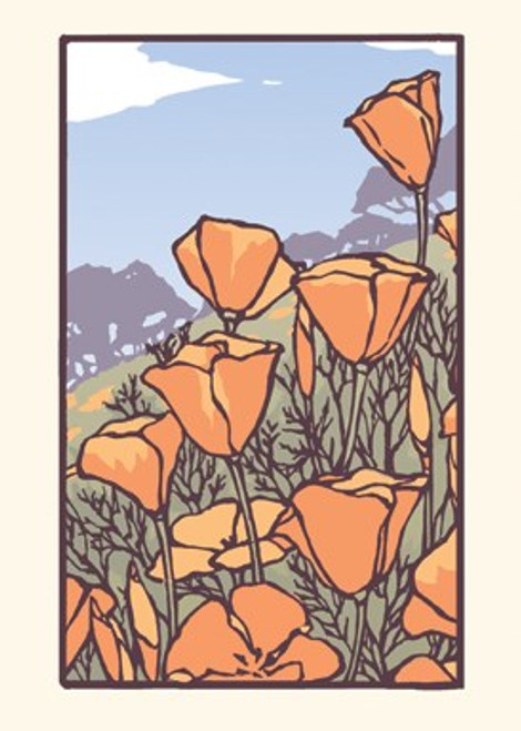Card - Poppies in Bloom