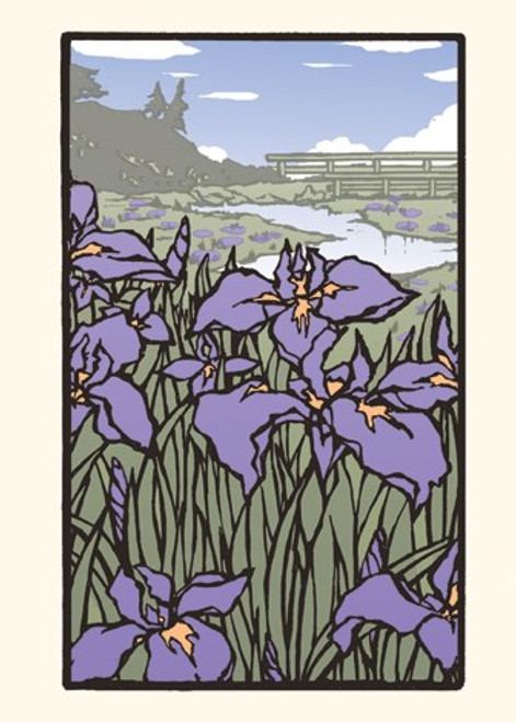 Card - Iris in Bloom