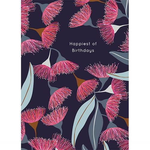 Birthday Card - Gum Blossoms
