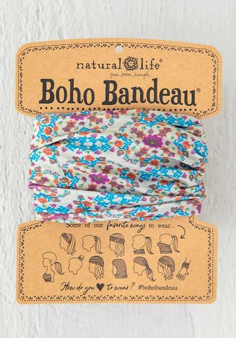 Boho Bandeau Grey Flower Stamp