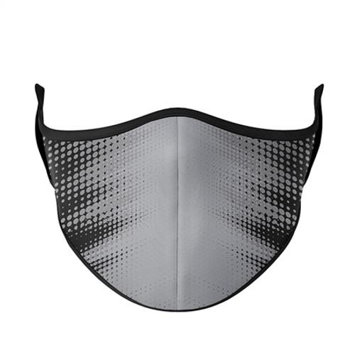 Adult Large Fashion Mask - Black with Grey Blast