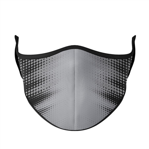 Adult Large Fashion Mask - Black with Grey Blast