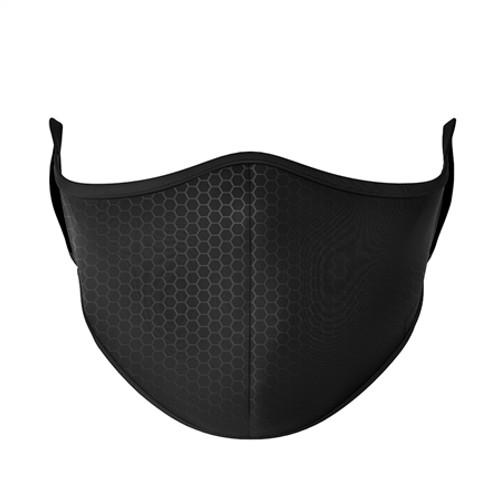 Adult Large Fashion Mask - Black Carbon Fiber