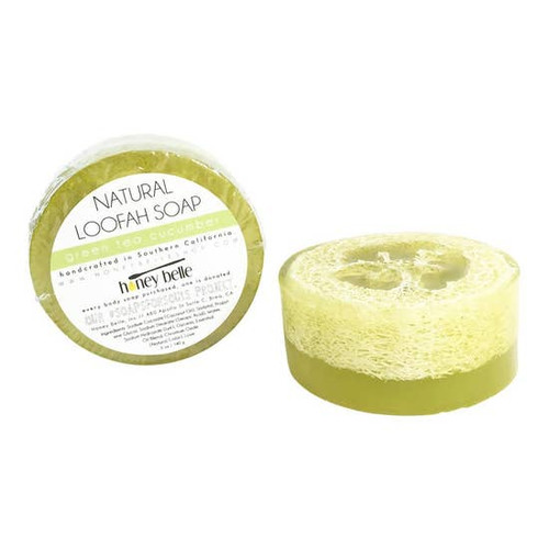 Loofah Soap - Green Tea Cucumber 5oz.
