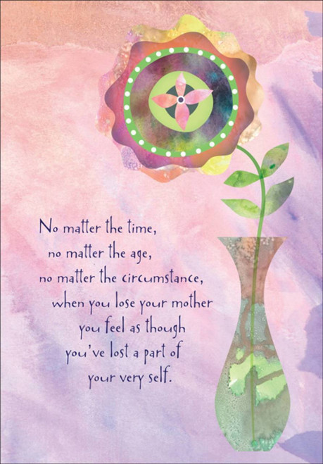 Sympathy Card - No Matter The Time Mother
