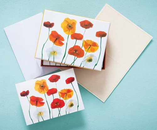 Boxed Note Cards - Poppies
