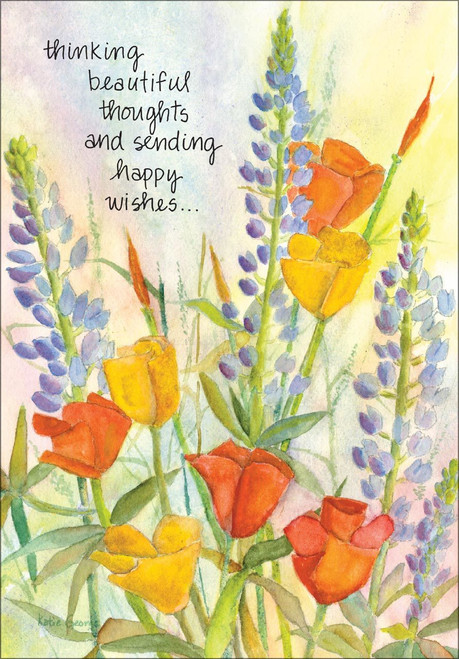 Birthday Card - Thinking Beautiful Thoughts