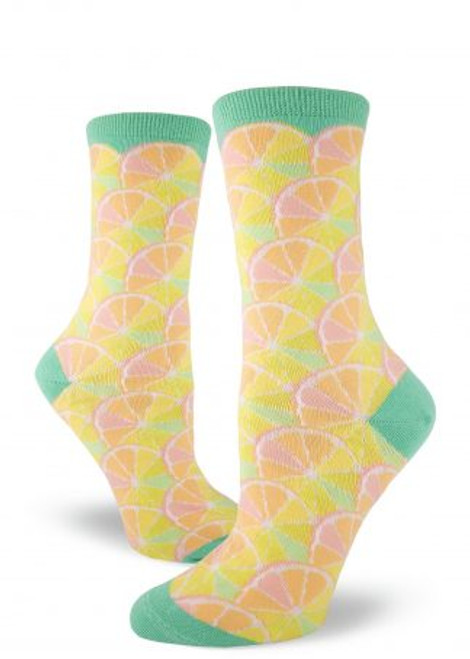 Citrus Crew Socks Seafoam Green