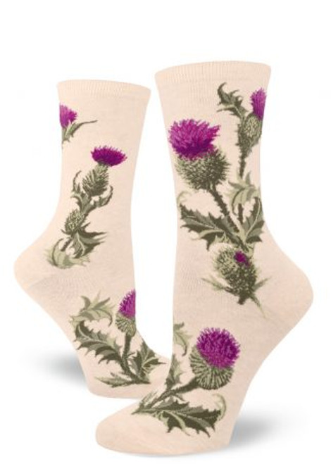 Thistle Crew Sock Heather Cream