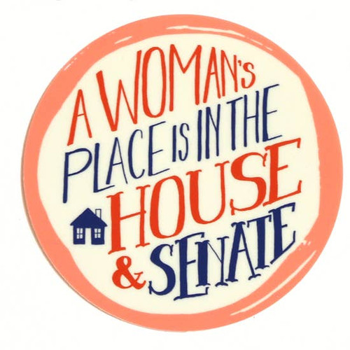 Votes for Women Sticker A Woman's Place is in the House & Senate