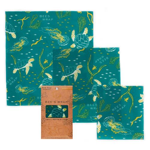 Oceans Print Set of 3 Assorted S M L