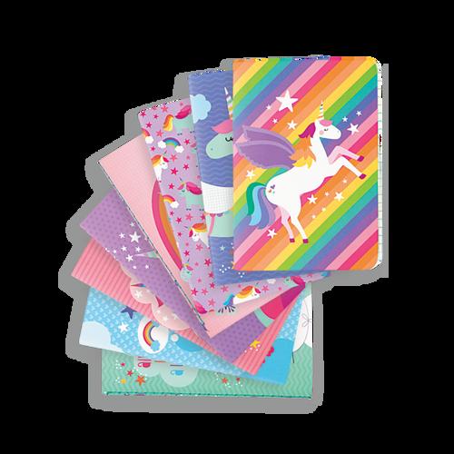 Mini Pocket Pals Journals - Unique Unicorns Set of 8