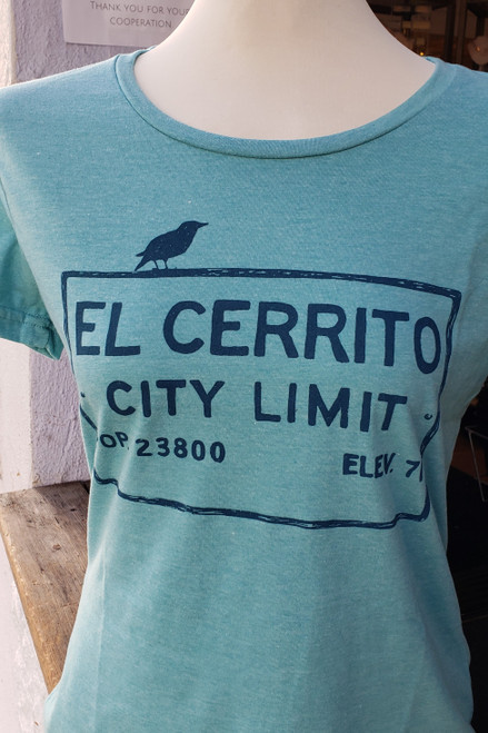 Women's Heather Aqua El Cerrito T-Shirt