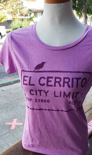 Women's Heather Mauve El Cerrito T-Shirt