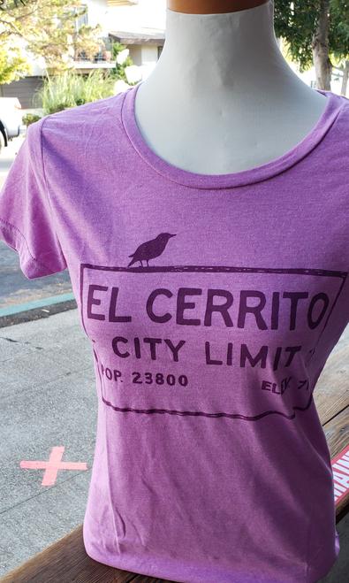 Women's Heather Mauve El Cerrito T-Shirt