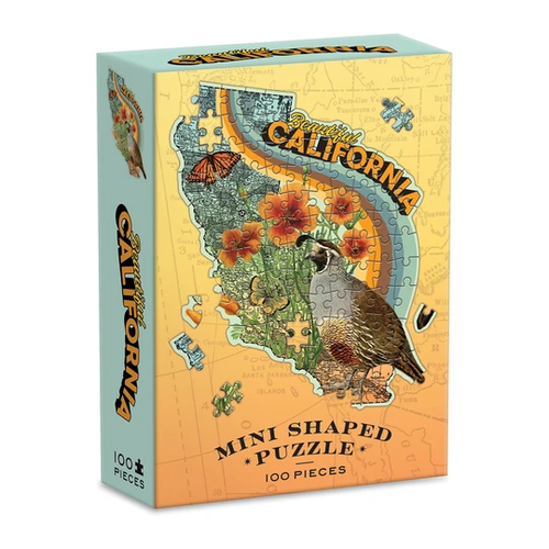 Wendy Gold California Mini Shaped Puzzle 100 Pieces