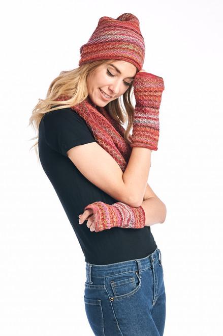 Shupaca Printed Gloves - Saffron