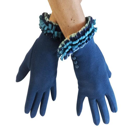 Ruffle Glove - Teal
