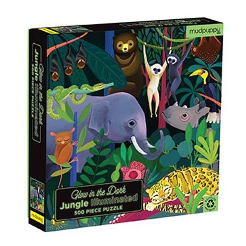 Jungle Illuminated 500 Piece Glow in the Dark Puzzle