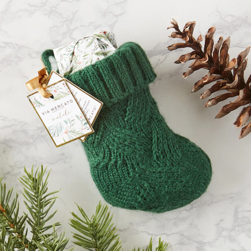 Mini Stocking with Hand-Wrapped Soap