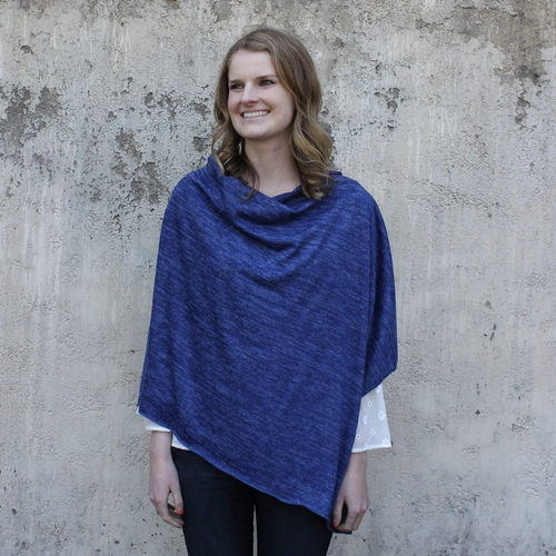 Heather Jersey Knit Poncho