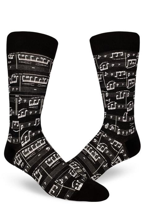 A Genius Composition Men's Music Socks Black