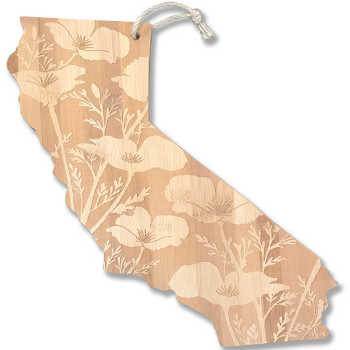 CA Poppy Bamboo Cheese/Serving Board