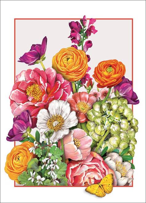 Peonies - Birthday Card