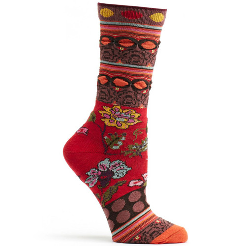 Red Fille Ozone Sock