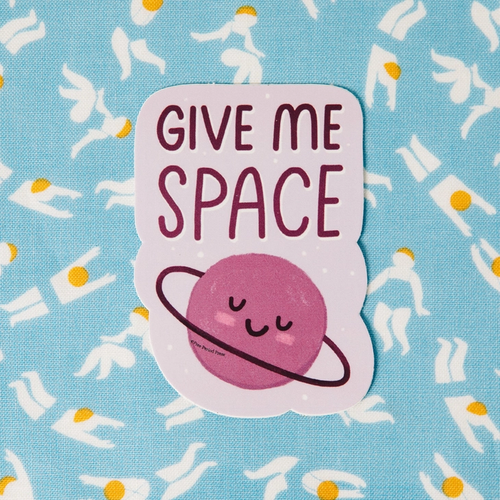 Give Me Space Vinyl Sticker