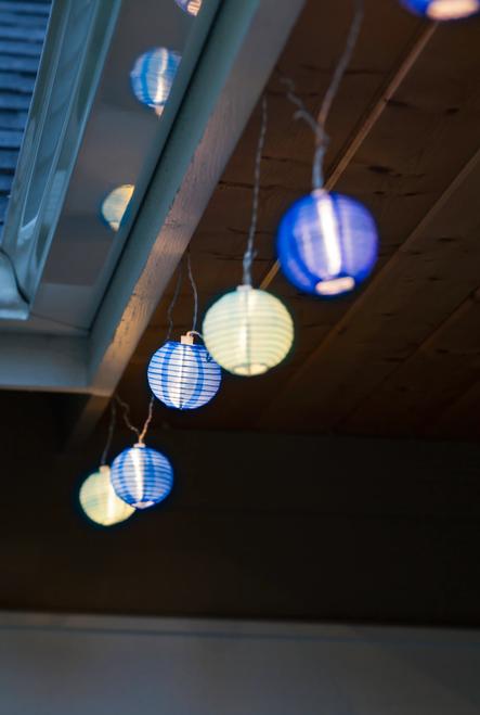 GLOW Nylon String Lights - Watery Blue