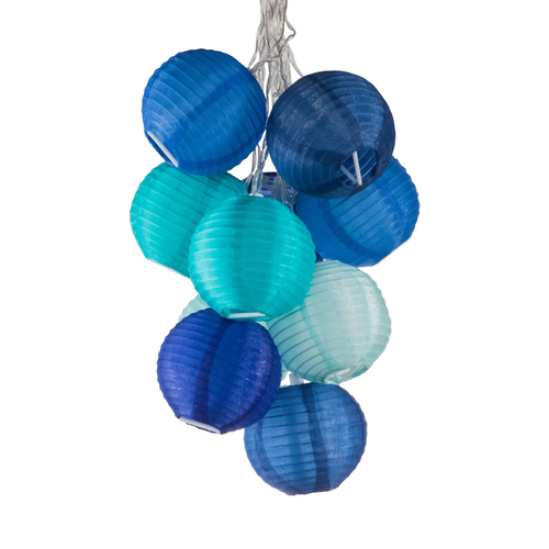 GLOW Nylon String Lights - Watery Blue