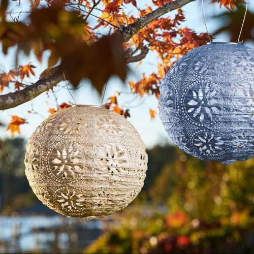 """12"""" Globe Stella BOHO Solar Lantern"""