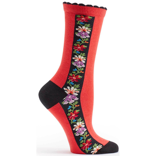 Red Nordic Stripe Ozone Sock