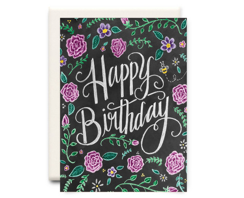 Chalkboard Happy Birthday - Birthday Card