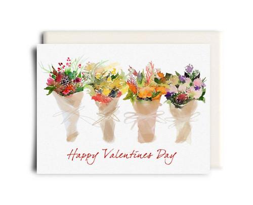 Valentine Bouquets - Valentine's Day Card