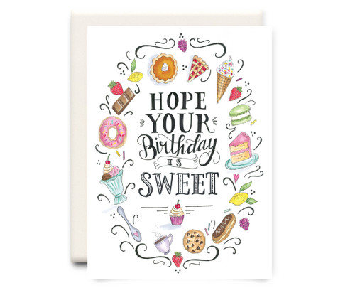 Birthday is Sweet - Birthday Card