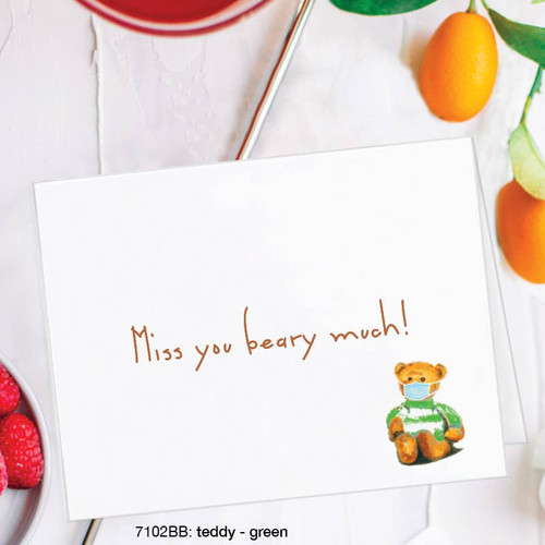Miss You Beary Much - Card