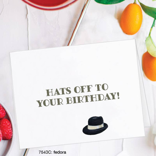 Hats Off to Your Birthday - Birthday Card
