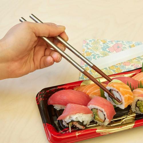 Enjoy your sushi with travel chopsticks.