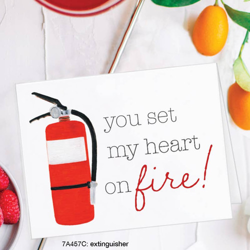 You Set My Heart on Fire - Card