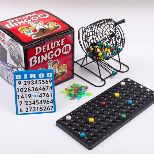 Deluxe Bingo Cage Game Set - 18 Cards
