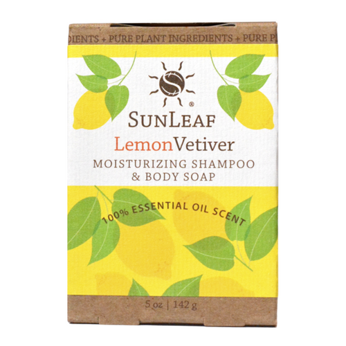 5oz Lemon Vetiver Shampoo & Body Soap Bar by Sun Leaf Naturals